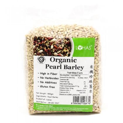 LOHAS Organic Pearl Barley 500gm